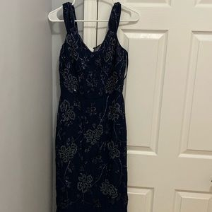 Virgos lounge embellished navy dress UK size 10